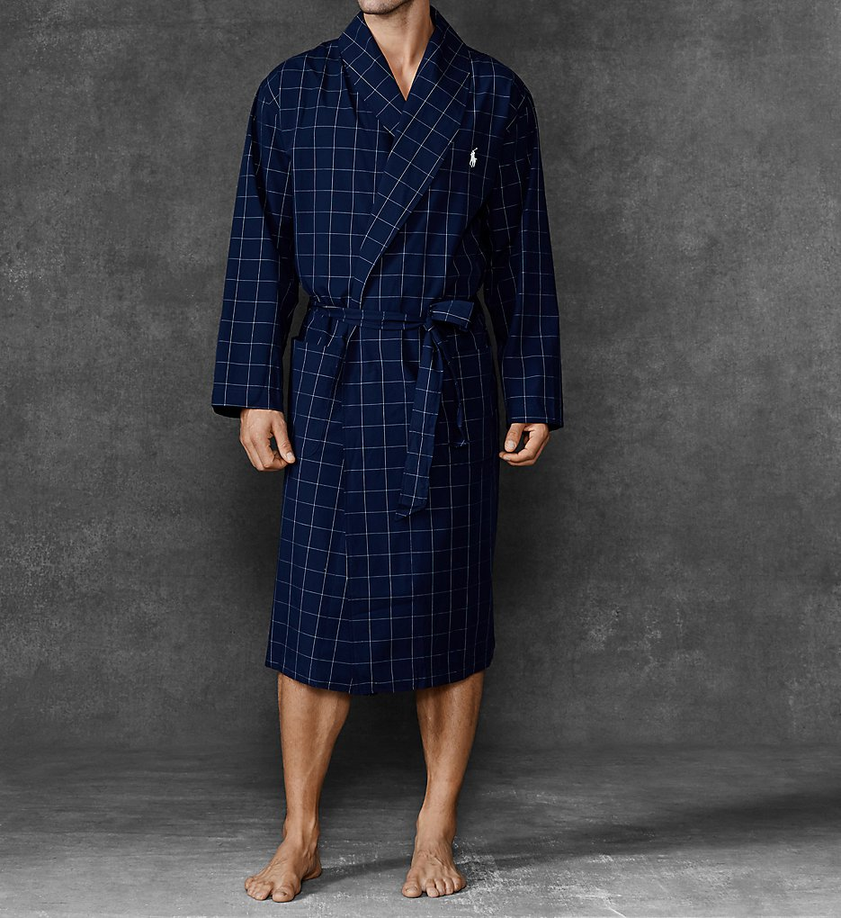 f4799868b7b Polo Ralph Lauren Birdseye 100% Cotton Woven Robe (R171). Lightweight and  comfortable  this woven cotton robe features an eye-catching textured  birdseye ...